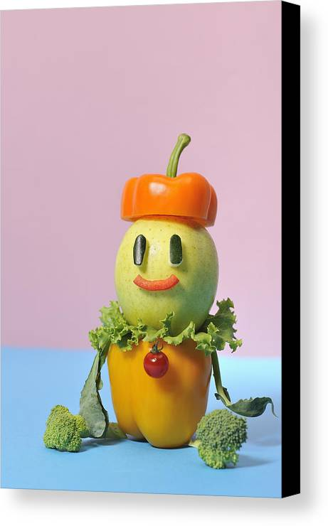Vertical Canvas Print featuring the photograph A Vegetable Doll by Yagi Studio