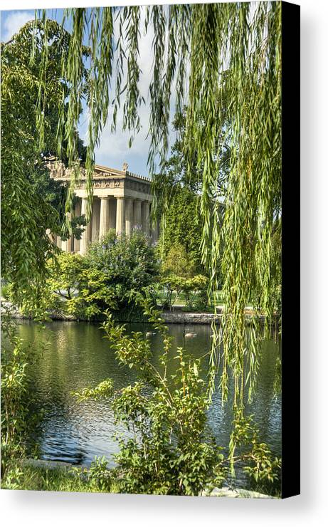 Parthenon Canvas Print featuring the photograph A View Of The Parthenon 10 by Douglas Barnett