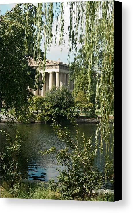 Parthenon Canvas Print featuring the photograph A View Of The Parthenon 6 by Douglas Barnett