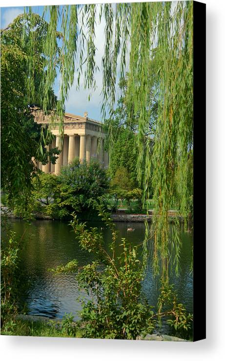 Parthenon Canvas Print featuring the photograph A View Of The Parthenon 8 by Douglas Barnett