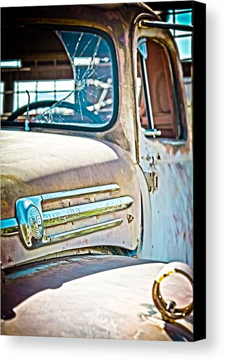 Truck Canvas Print featuring the photograph Abandoned Red Truck by Michael Yeager