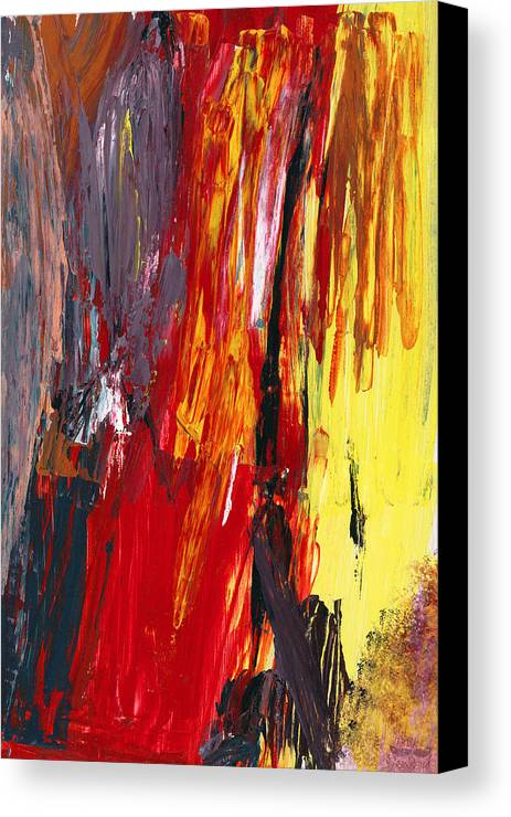 Abstract Canvas Print featuring the photograph Abstract - Acrylic - Rising Power by Mike Savad