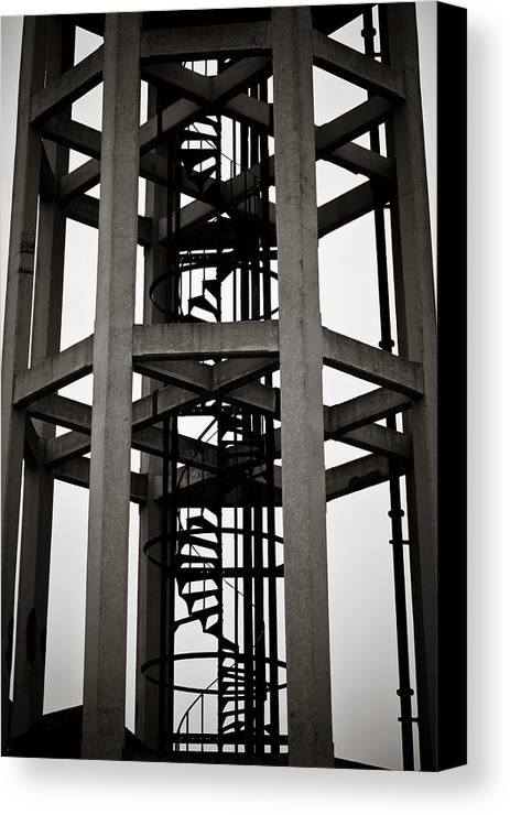 London Canvas Print featuring the photograph Abstract Water Tower by Charlie Moss