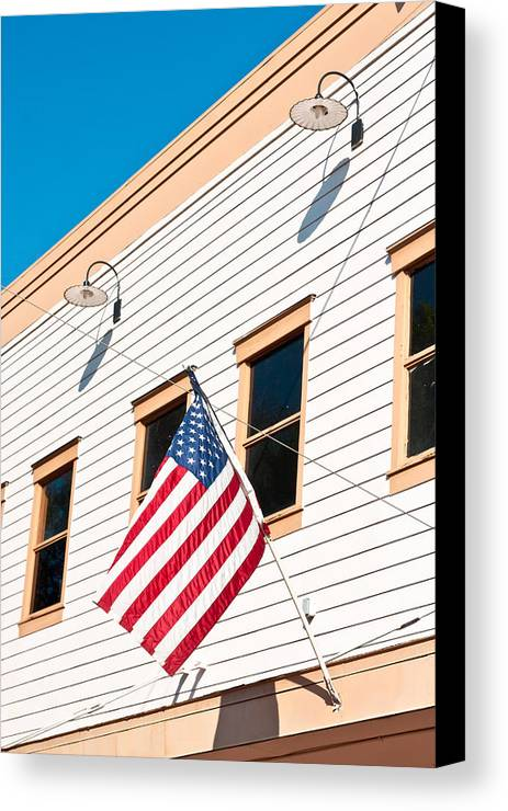 4th Canvas Print featuring the photograph American Flag by Tom Gowanlock