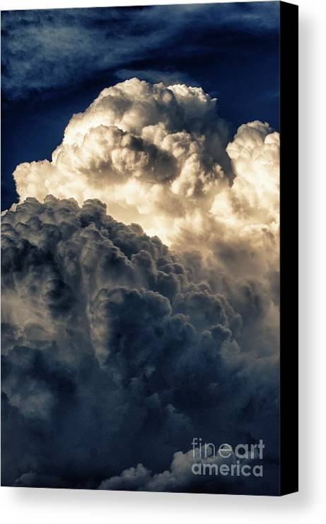 Clouds Canvas Print featuring the photograph Angels And Demons by Syed Aqueel