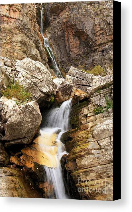 Apikuni Waterfall Canvas Print featuring the photograph Apikuni Waterfall by Adam Jewell
