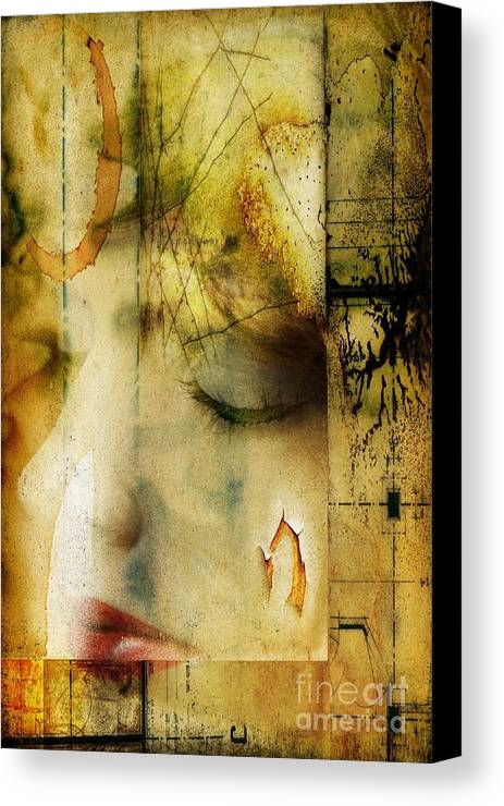 Manikin Canvas Print featuring the digital art Artsy Girl by David Taylor