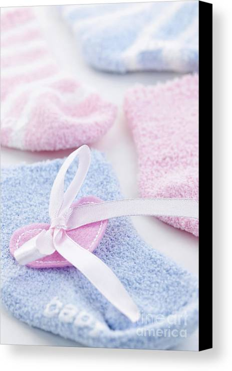 Socks Canvas Print featuring the photograph Baby Socks by Elena Elisseeva