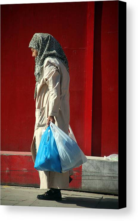 Jezcself Canvas Print featuring the photograph Bagged Life by Jez C Self