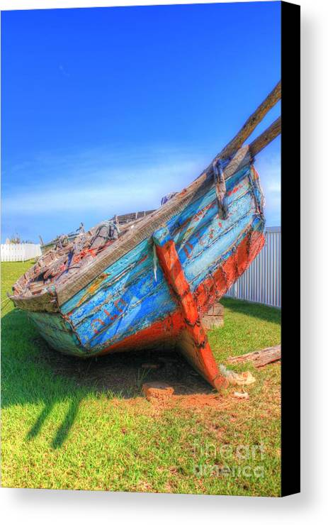 Photography Canvas Print featuring the photograph Boat by Tiffani Vanhunnik