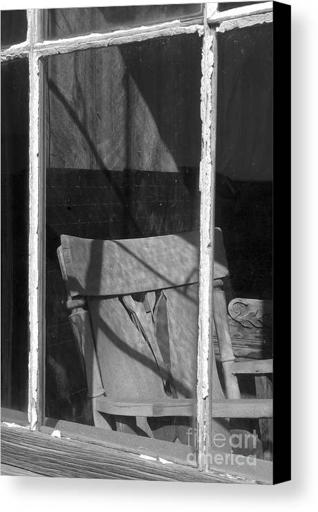 Sandra Bronstein Canvas Print featuring the photograph Bodi Ghost Town Window by Sandra Bronstein