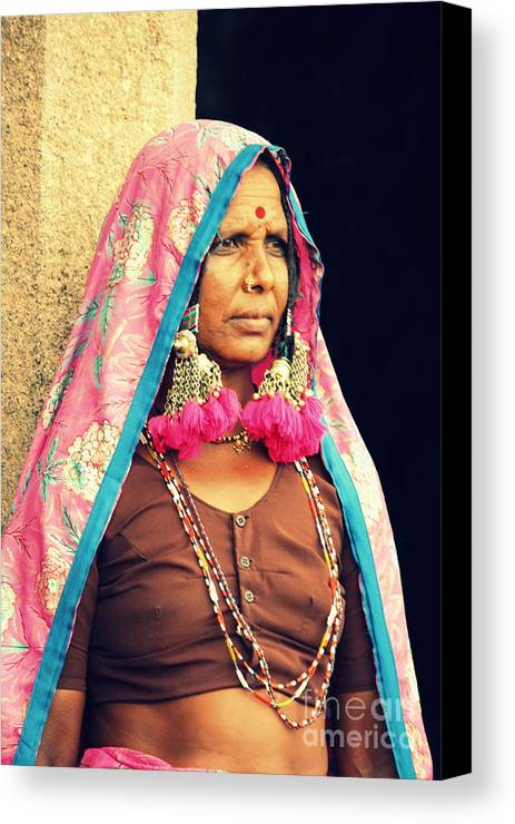 Portrait Canvas Print featuring the photograph Bohemian by Vishakha Bhagat