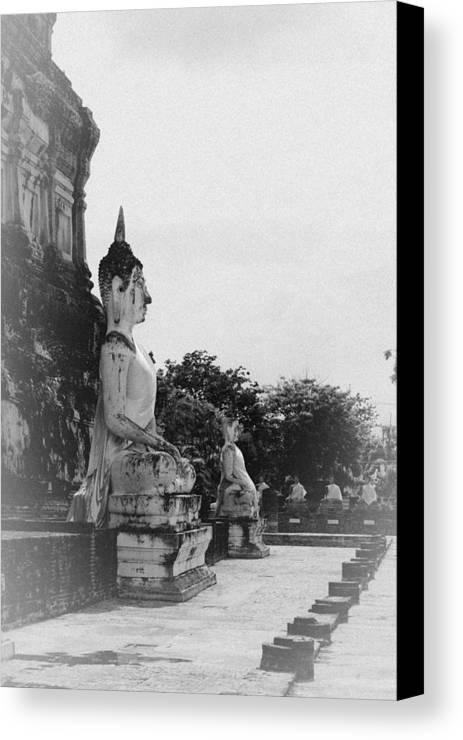 Thailand Canvas Print featuring the sculpture Buddha Statue by Thosaporn Wintachai