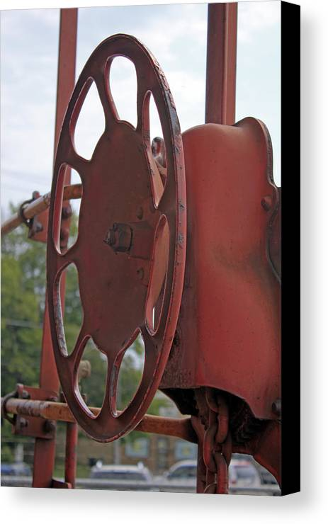 Caboose Canvas Print featuring the photograph Caboose Control by Photo Enrichments