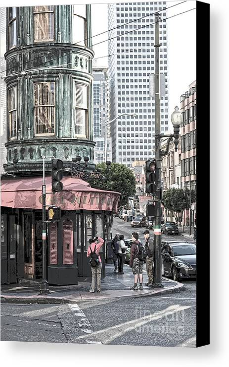 San Francisco Canvas Print featuring the photograph Cafe Zoetrope by Artist and Photographer Laura Wrede