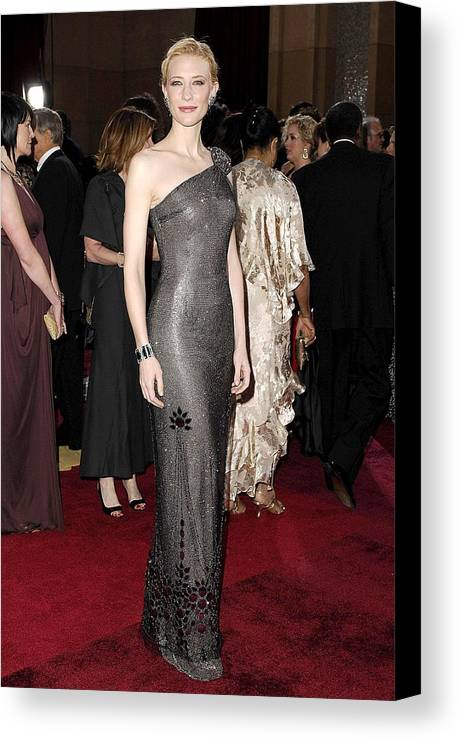 Oscars 79th Annual Academy Awards - Arrivals Canvas Print featuring the photograph Cate Blanchett Wearing Armani Prive by Everett