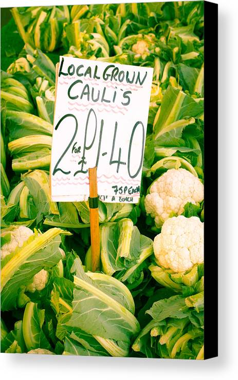 Abundance Canvas Print featuring the photograph Cauliflower by Tom Gowanlock