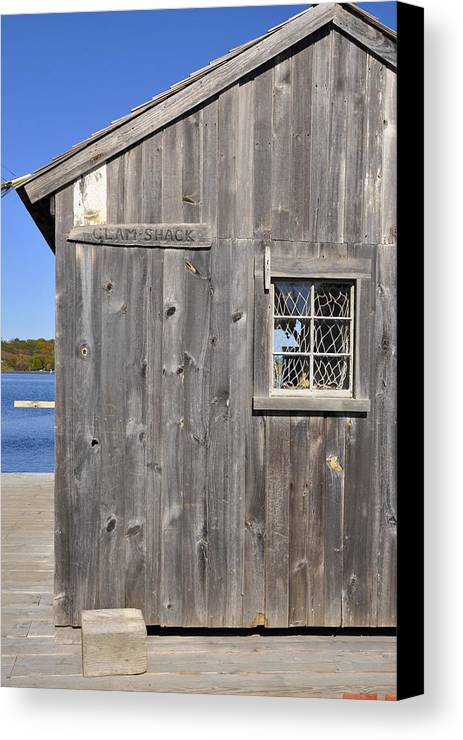 Iphoto Original Canvas Print featuring the photograph Clam Shack by Jill Schmidt