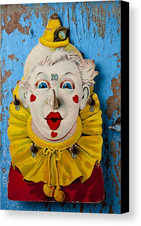 Clown Canvas Print featuring the photograph Clown Toy Game by Garry Gay
