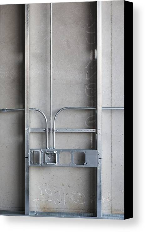No People Canvas Print featuring the photograph Commercial Building Under Construction by Don Mason