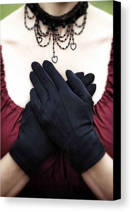 Female Canvas Print featuring the photograph Crossed Hands by Joana Kruse