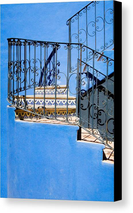 Blue Canvas Print featuring the photograph Design In Blue by Eggers Photography