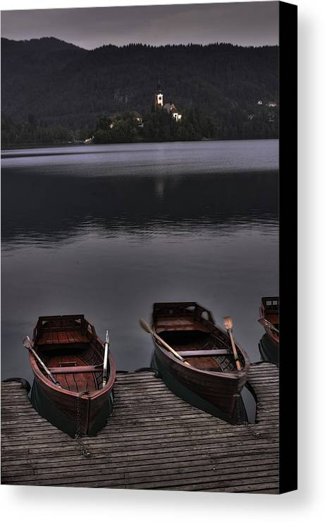 Boats Canvas Print featuring the photograph Docked Boats by Don Wolf