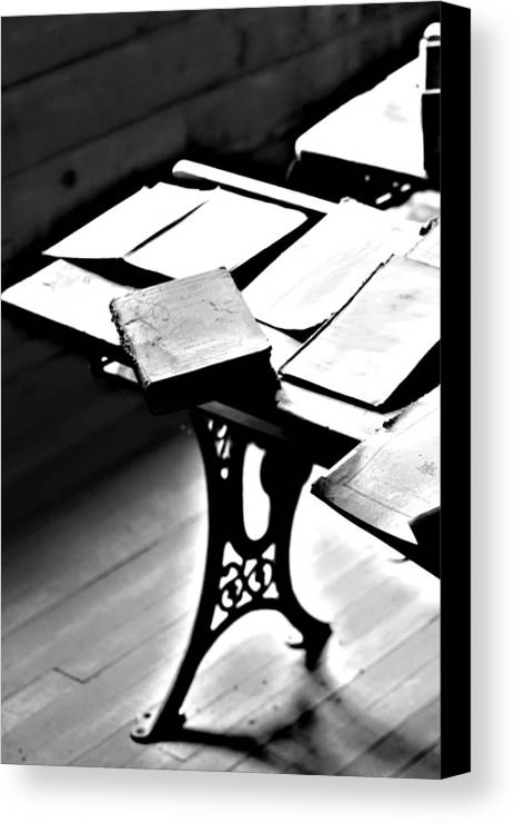Elm Canvas Print featuring the photograph Education Station by Empty Wall