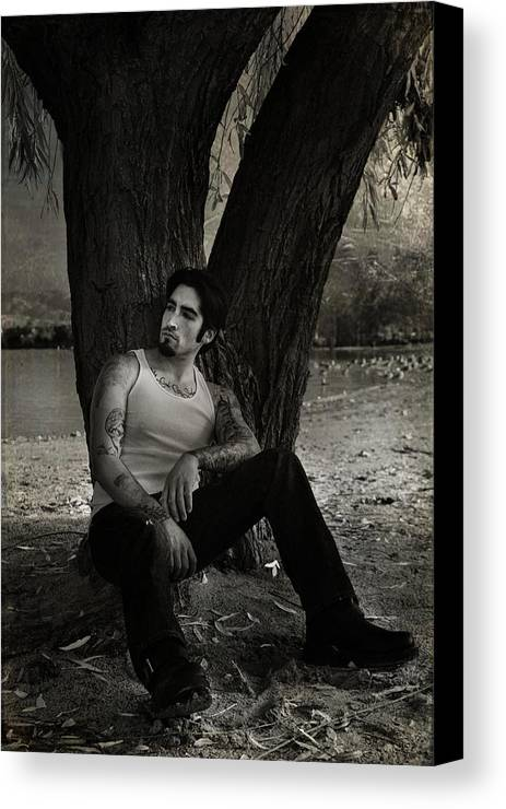 Man Canvas Print featuring the photograph Everybody Needs A Little Time Away by Laurie Search