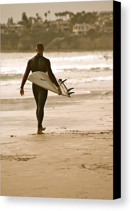 Surfer Canvas Print featuring the photograph Finding Passion by Alexander Martinez