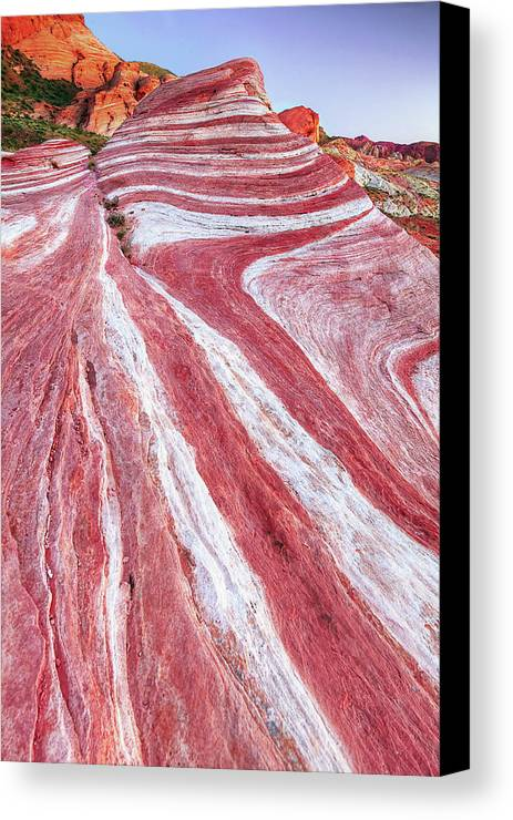 Vertical Canvas Print featuring the photograph Fire Wave by Copyright Sarah Wright