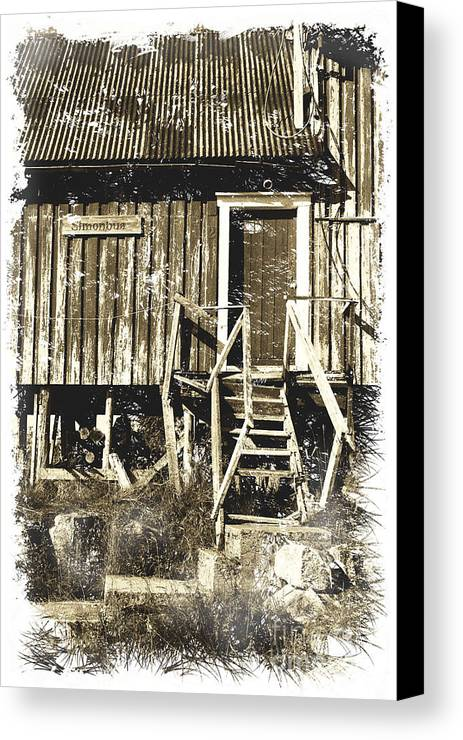 Heiko Canvas Print featuring the photograph Forgotten Wooden House by Heiko Koehrer-Wagner