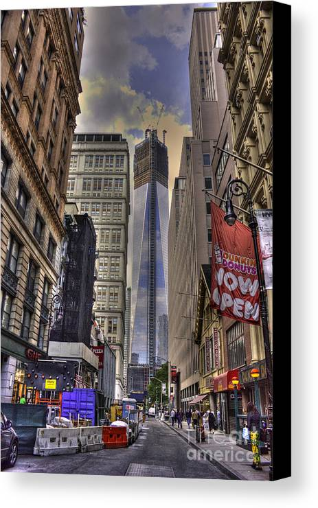 Hdr Canvas Print featuring the photograph Freedom Tower Rising by David Bearden