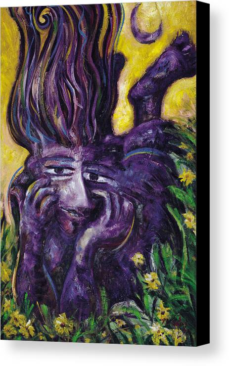 Woman Canvas Print featuring the painting Garden Of Dreamers by Pablo Montes