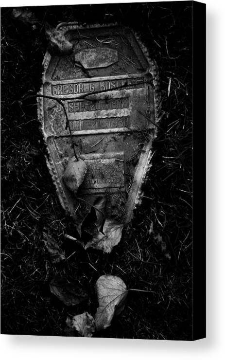 Graveyard Canvas Print featuring the photograph Gravestone by Kate Stevens