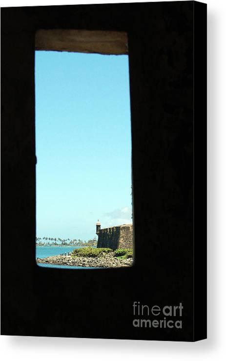 El Morro Canvas Print featuring the photograph Guard Tower View Castillo San Felipe Del Morro San Juan Puerto Rico by Shawn O'Brien