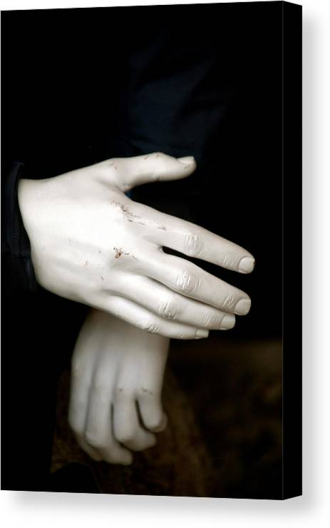 Canvas Print featuring the photograph Hand Practice by Jez C Self