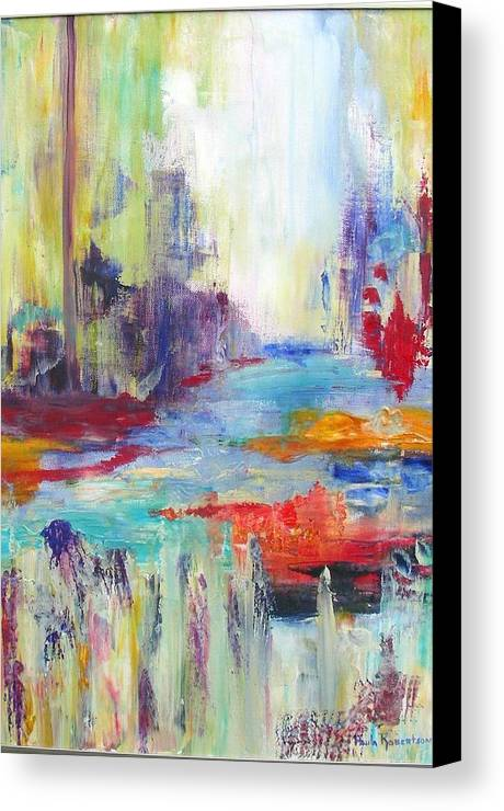 Harbor Canvas Print featuring the painting Harborside by Paula Robertson