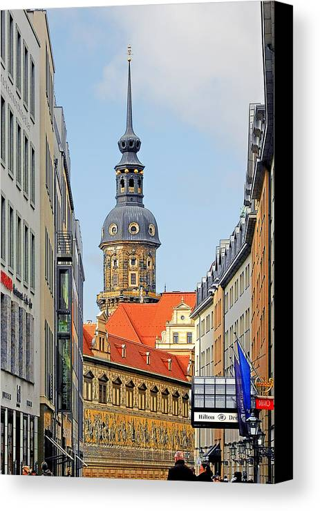Germany Canvas Print featuring the photograph Hausmannsturm - Lookout Of A Castle With Stunning Views by Christine Till