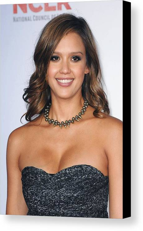 Jessica Alba Canvas Print featuring the photograph Jessica Alba At Arrivals For 2011 Nclr by Everett