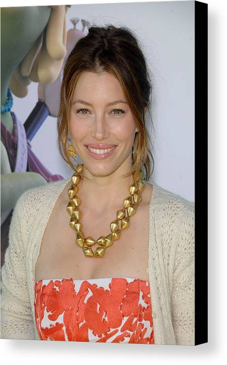 Jessica Biel Canvas Print featuring the photograph Jessica Biel At Arrivals For Planet 51 by Everett