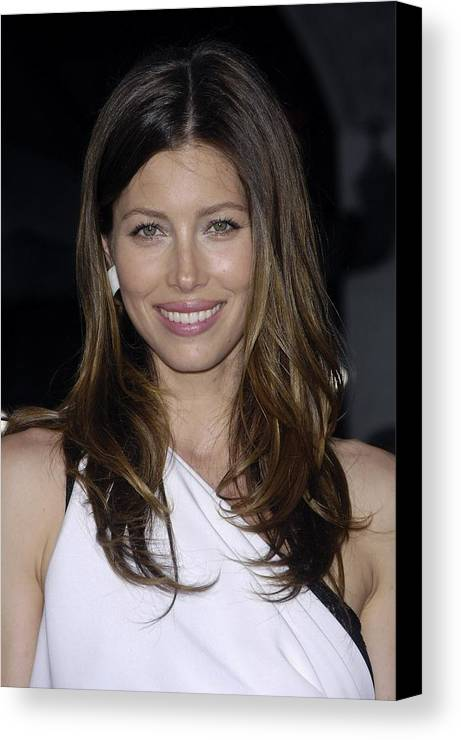 Jessica Biel Canvas Print featuring the photograph Jessica Biel At Arrivals For The A-team by Everett