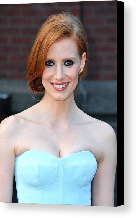 Jessica Chastain Canvas Print featuring the photograph Jessica Chastain At Arrivals For The by Everett