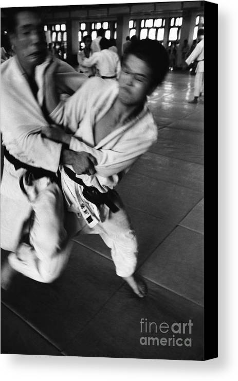 Tokyo Canvas Print featuring the photograph Judo by Bernard Wolff