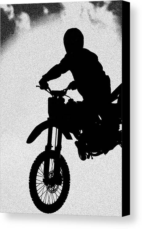 Motorcycle Canvas Print featuring the photograph Jumping High by Carolyn Marshall