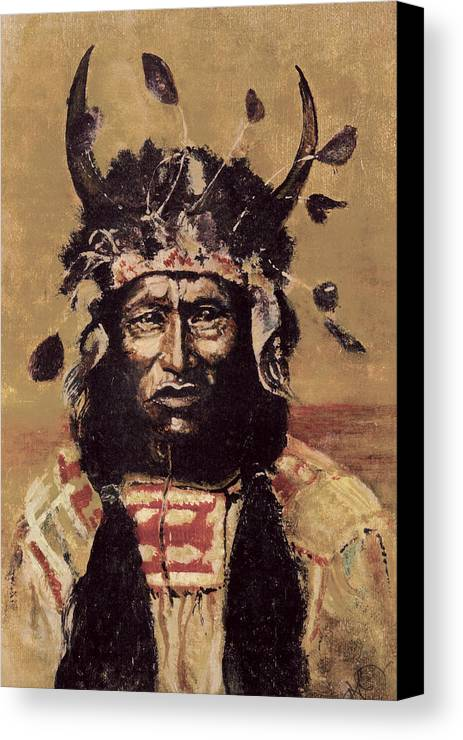 Canvas Print featuring the painting Kicking Bear by Kitty Meekins