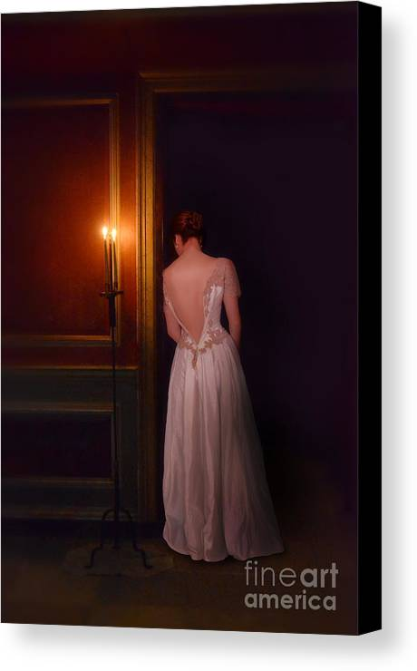 Beautiful Canvas Print featuring the photograph Lady In Candle Light by Jill Battaglia
