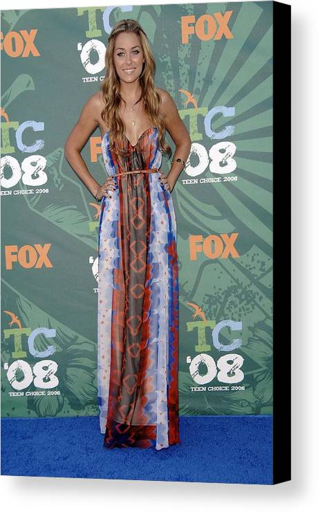 Arrivals - 2008 Teen Choice Awards Canvas Print featuring the photograph Lauren Conrad Wearing A Dress by Everett