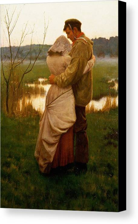 Lovers Canvas Print featuring the painting Listed by William Henry Gore