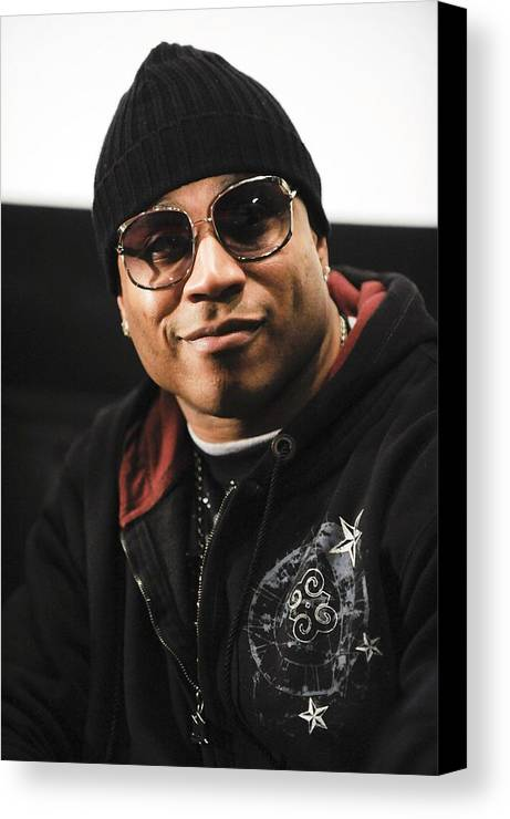 Russell Simmons Named Editor-in-chief Of Globalgrind.com Canvas Print featuring the photograph Ll Cool J At The Press Conference by Everett